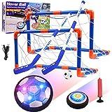 Diealles Shine Air Power Fußball Kinderspielzeug, Hover Soccer Ball Fussball mit LED-Licht Schaum Stoßstangen Geschenke für J