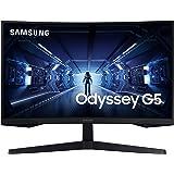 Samsung C27G53T - Monitor gaming curvo de 27'' WQHD (2560x1440, 16:9, 2500:1, 1000R, 144 Hz, 1 ms, 250 cd/m², HDR10, AMD Free