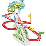 Popsugar - TH1112A Happy Dog Race Track Set with Music and Lights, Multicolor