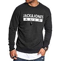 JACK & JONES - Felpa da Uomo con Scollo Rotondo, 4 Elementi