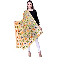 SWI WITH LABEL Phulkari Dupattas for Womens, Hand Embroidered in Amritsar, Punjabi Pankha Design, Size 2.2 m