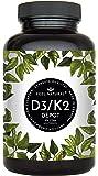 Vitamin D3 + K2 Tabletten - 180 Stück - Hochdosiert mit 5000 I.E. Vitamin D3 und 200 mcg Vitamin K2 pro EINER Tablette…