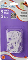 Dreambaby Keyed Outlet Plugs 9 Plugs and 3 Keys (White)
