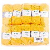 Gründl Lisa Premium Pack de 10 Balles, Acrylique, Jaune, 34 x 31 x 8 cm