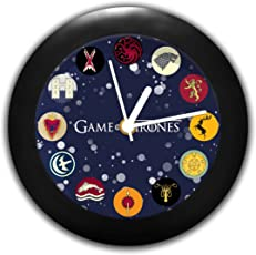 MC SID RAZZ Plastic Redwolf Game of Thrones Table Clock Licensed by HBO (6x6-inch, Multicolour)