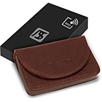 NISUN PU Leather RFID Blocking Pocket Sized Credit Card Holder Name Card Case Wallet with Magnetic Shut for Men & Women…