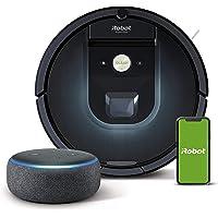 iRobot Roomba 981 Saugroboter mit 3-stufigem Reinigungssystem, Raumkartierung, Teppich-Turbomodus, App-Steuerung + Echo…