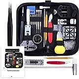 Vastar 151 PCS Kit Riparazione Orologi,Kit Attrezzi Orologiaio per Fai da te Orologi,per Orologio Riparazione Cinturino Orolo