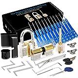 Luxebell Lock Picking, 33 stuks Lock Pick Set met 3 transparante hangsloten bieden 4 trainingsniveaus voor beginners en slote