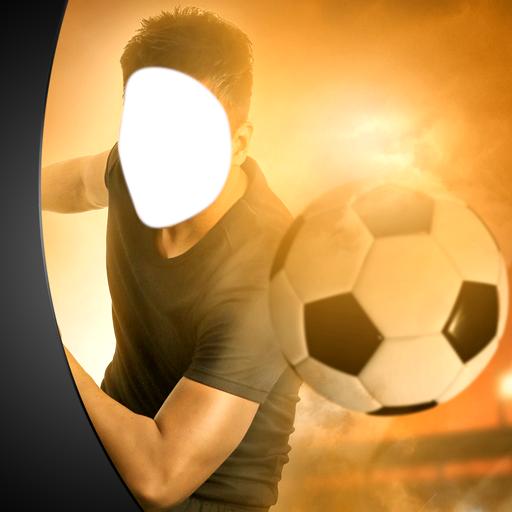 Fußball-Fotomontage (Stollen Spitze)
