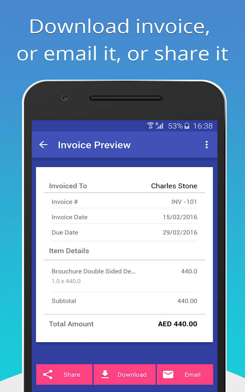 Sales Invoice Template Blank Invoice Template Free For Google Docs - Invoice maker android