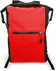 MyGadget Wasserdichte Dry Bag [25L Rucksack] Roll Top Daypack Wasserfest - PVC Trockenbeutel Drybag Outdoor Tasche für Wasser Sport & Wandern in Rot