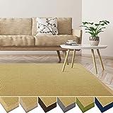 casa pura Sisal Teppich aus Naturfasern   mit Bordüre aus Baumwolle   pflegeleicht   viele Größen und Farben (Natur/Bordüre Natur, 70x130 cm)