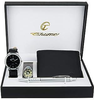 97ba0de6659 Souarts Ensemble Coffret Cadeau Montre pour Homme (Style 7)  Amazon ...