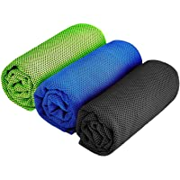 SHISHUO Cooling Towel - 120 x 30 cm Premium Ice Cooling Towels for Instant Cooling Relief, Quick Dry Sweat Towel for…