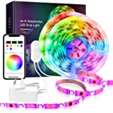 Smart LED RGB Strip Light Dreamcolor RGBIC Rainbow WiFi APP Remote Voice Control Sync to Music Work with Alexa Google Decorat