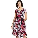 Harpa Women's Polyester A-Line Knee-Length Dress