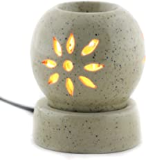 Brahmz Aroma Oil Diffuser Scented Aroma Diffuser Aromatherapy Electric Diffuser Globe Diffuser Essential Oil Warmer (Black Dots on White)