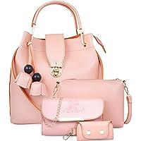 Speed X Fashion Women PU Pink Combo (Set of 4)