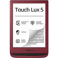 """PocketBook - Lettore e-book """"Touch Lux 5"""" (8 GB di memoria, display E-Ink da 6 pollici), SMARTlight, Wi-Fi), rosso…"""