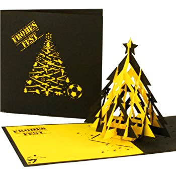 Bvb Frohe Weihnachten.Borussia Dortmund Bvb Grusskarte Weihnachten Amazon De