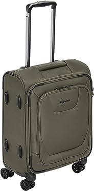AmazonBasics - Premium-Weichschalen-Trolley mit TSA-Schloss, erweiterbar, 46 cm, Handgepäck, Olivgrün