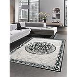 CARPETIA Designer tapijt, versage, patroon, grijs, zwart, afmeting 80 x 300 cm