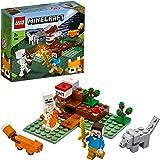 LEGO Minecraft AvventuranellaTaiga, Set di Costruzioni con Figure di Steve, Lupo e Volpe, Giocattoli per Bambini dai 7 Anni
