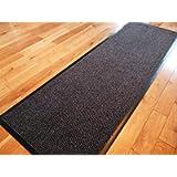 TrendMakers Dirt Stopper Carpet Runner Door Mats | 40cm x 60cm Anthracite/Black | With PVC Rubber Back For Home Office…