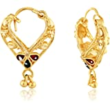 VFJ VIGHNAHARTA FASHION JEWELLERY Yellow Non-Precious Metal, Brass and Gold-Plated Earring for Women