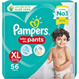 Pampers All round Protection Pants, Extra Large size baby diapers (XL), 56 Count, Anti Rash diapers, Lotion with Aloe…