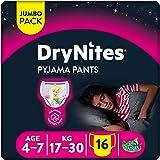 Huggies DryNites, 4 - 7 años niña, 16 pañales