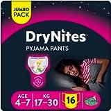 Huggies DryNites Girl 4-7 years ( 17-30kg ) x16