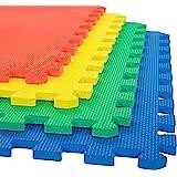 LILTOES EVA Kid's Interlocking Play Mat -12 mm Thickness -Set of 8 Tiles (Multicolour)