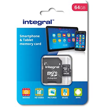 Integral memory INMSDX64G10 - 90SPTAB - Tarjeta de memoria (micro SDXC Class 10 UHS-1 64 GB)