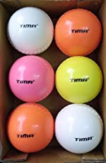 Tima Wind Cricket Ball, Pack of 6 (Multicolor)