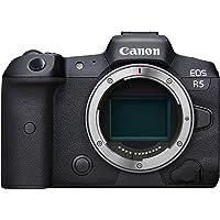 Canon EOS R5 Vollformat Systemkamera - Gehäuse (spiegellos, 45 MP, DIGIC X, 8K RAW, 4K 120p, 5 Achsen Bildstabilisator…