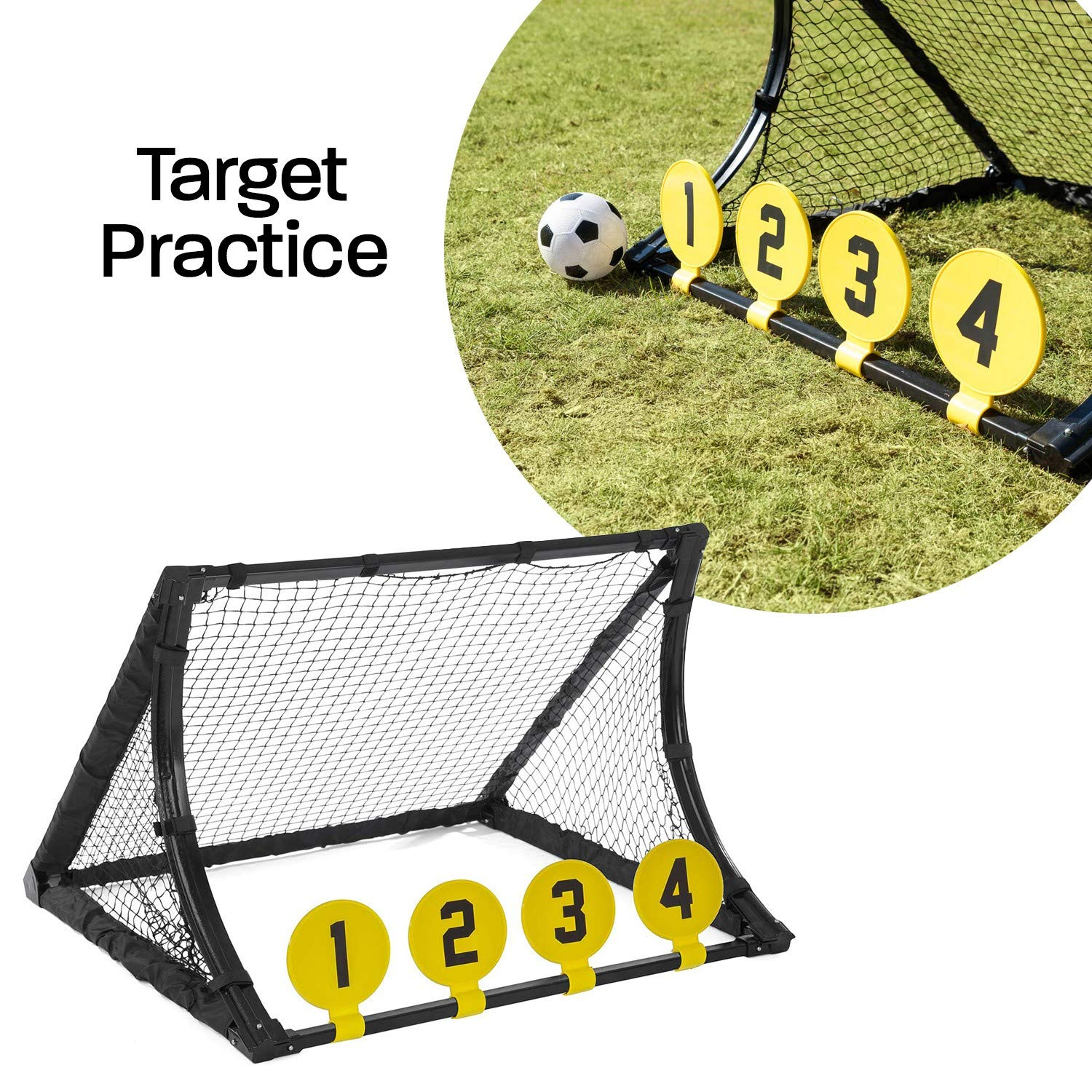 d212f0d3 JumpStar Sports Football Training System Goal Kids 4 In 1 Target Shot  Rebound Kickback Net Toy