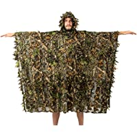 NITEHAWK Multipurpose Adults 3D Leaves Camouflage Cape Suit, Camo Hunting Poncho Stealth Ghillie Suit Clothing