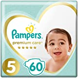 Pampers Premium Care Diapers, Size 5, Junior, 11-25 Kg - 60 Diapers