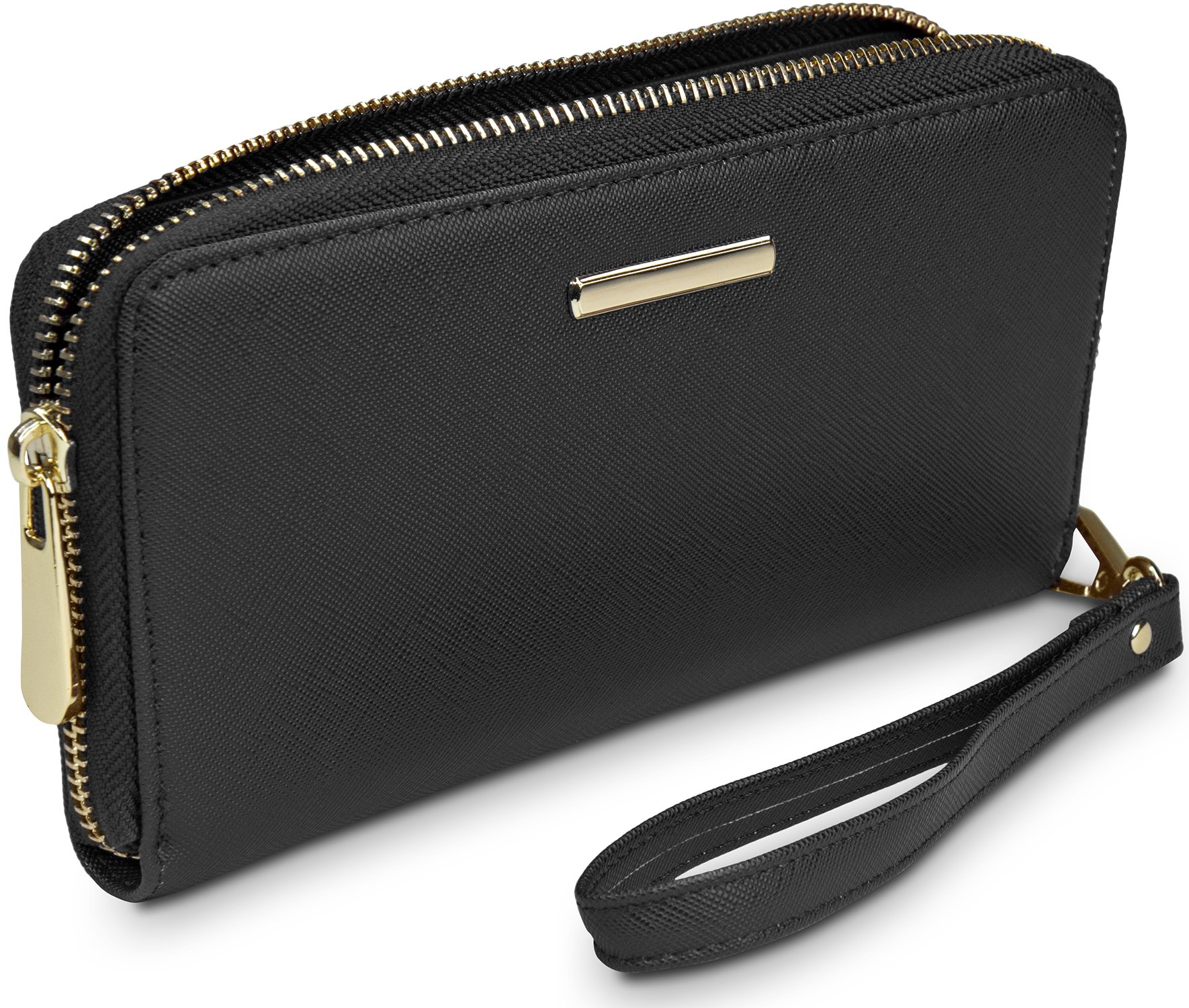 968b9f1b9ffbb Travando® Ladies  Purse with RFID Protection Paris - Large Designer Purse -  12 Card Pockets - 3 Chambers - Continental Format - Golden Zip - Perfect  Gift ...