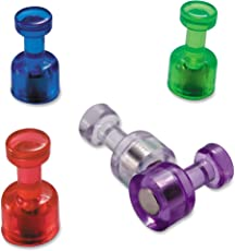 48 Acrylic Magnetic Push Pins - Perfect for Maps, Whiteboards, Refrigerators