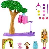 Barbie Famille l'Anniversaire Perdu de Chelsea coffret Anniversaire Surprise avec mini-poupée, 2 figurines animaux et…