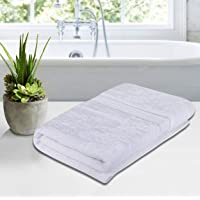 Roseate® 100% Cotton (550 GSM / 70x140 cm) Large Bath Towel Anti Bacterial/Super Absorbent (White) Pack of 1