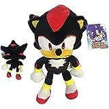 """Sonic - Peluche Shadow The Hedgehog 11'80""""/30cm Couleur Noir Qualité Super Soft"""