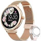 NAIXUES Smartwatch Donna IP68, Orologio Fitness Impermeabile Cardiofrequenzimetro da Polso, Smart Watch Bluetooth Contapassi