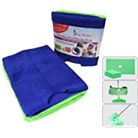 Sobby Microfibre Floor Cleaning Cloth with Hole for Wipers 50 cm x 70 cm, Assorted Colour, 2 Pieces