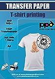PPD DIN A4 Inkjet Transferpapier Transferfolie Bügelfolie für helle Textilien DIN A4 x 10 Blatt PPD-1-10N