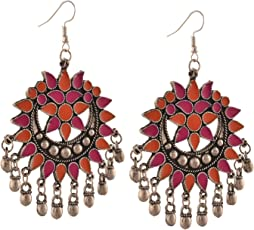 Tiaraz Fashion Stylish Oxidised Afghani Tribal Fancy Party Wear Earrings for Girls and Women