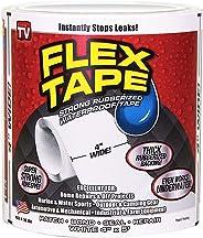 Flex Tape, süper güçlü lastik su geçirmez kendinden yapışkanlı bant siyah 10,2 cm x 5